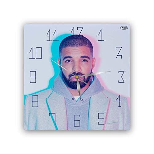 Drake11'' Exclusive Wall Clock- Handmade Unique Clock for Home and Office, Original Present for Every Occasion.