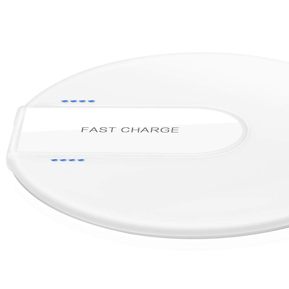 Mrkyy Wireless Charger Wireless Charging Pad Fast Charge for Phone X/ 8/8 Plus, Samsung Galaxy S9/ S9+/ Note 8/ S8/ S8+/ S7/ S7 Edge/ S6/ S6 Edge, Nokia 9, Nexus 4/5, Lumia 920 (White) Mrkyy International