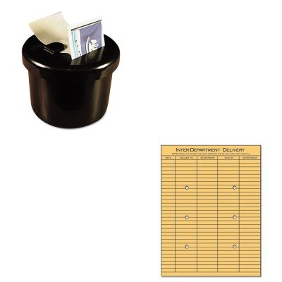 KITLEE40100UNV63568 - Value Kit - Universal Light Brown Kraft String amp;amp; Button Interoffice Envelope (UNV63568) and Lee Ultimate Stamp Dispenser ()
