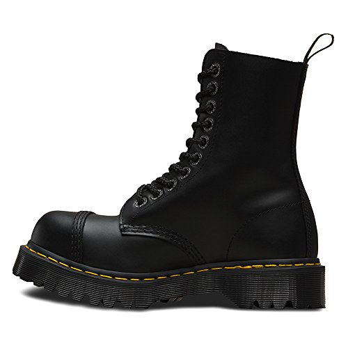 Dr. Martens Unisex 8761 BXB Boot 10-Eye Steel Cap Boot Black Fine Haircell Size UK 6 (8 M US Women) by Dr. Martens (Image #3)