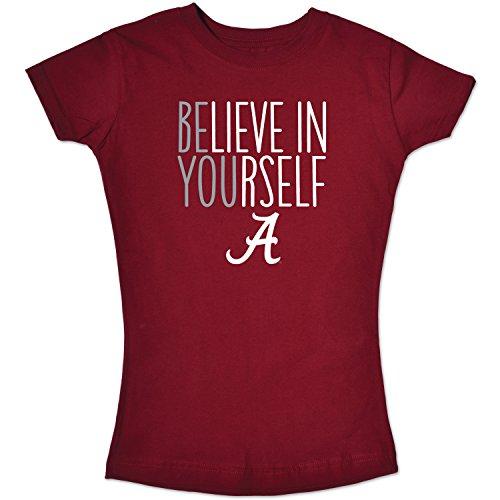 (NCAA Albama Crimson Tide Girls Short Sleeve Tee, Size 10-12/Medium, Cardinal)