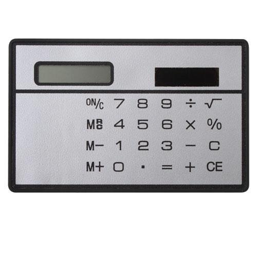 ZHUOTOP Mini Slim Credit Card Solar Power Pocket Calculator