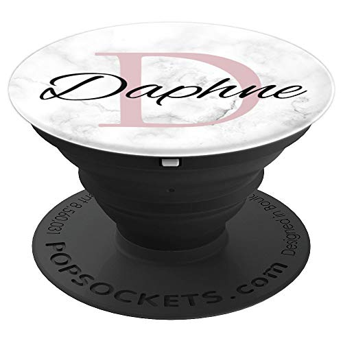Daphne Rose Pink Monogram Letter D Girls - PopSockets Grip and Stand for Phones and Tablets
