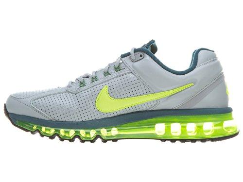 Nike Air Max 2013 Mens Pelle Lupo Grigio / Volt-nightfactor-nero
