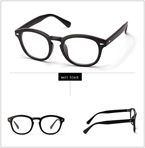 365Cor(TM)Retro Designer Eyeglasses Frames With Clear Lens johnny depp glasses Optical Degree Frames Eyeglass Eyewear oculos de grau 2038W ()