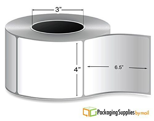 36 Rolls of per Roll 925 Labels 4''x6.5'' Thermal Transfer Blank Shipping Labels, 3'' Core by PackagingSuppliesByMail by PackagingSuppliesByMail