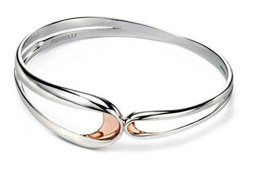 Fiorelli Bracelet jonc argent rose Détail plié