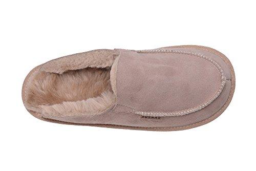 Rusnak Hommes Femmes Luxe Peau de Mouton Pantoufles Chaussons Chaussures avec Doublure Chaud Laine kHG9zvcx4