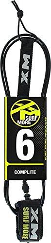 Surfmore XM XM REGULAR COMPLITE SURF LEASH 6' BLACK