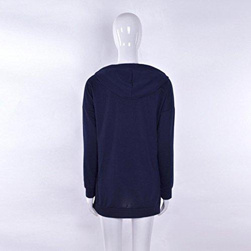 Azul Abrigo Mujer Para Yoyoug Marino Casual 4HdIwFqxqn