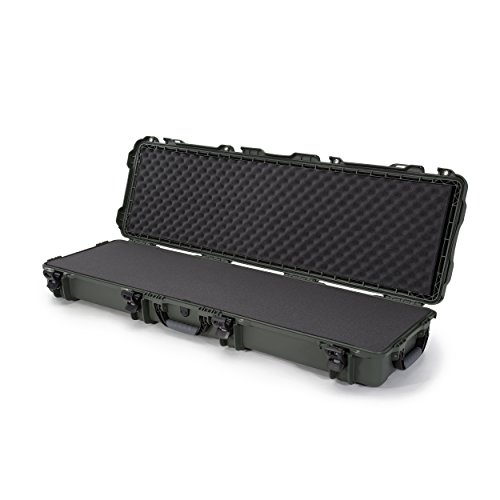 (Nanuk 995 Waterproof Professional Rifle/Gun Case, Military Approved with Foam Insert with Wheels - Olive)