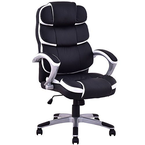 Ergonomic PU Leather High Back Executive Computer Desk Task Office Chair + FREE E-Book (Booster Car Hi Seat Back)