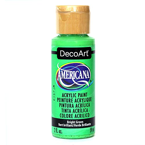 2 Ounce Bright Green (DecoArt Americana Acrylic Paint, 2-Ounce, Bright Green)