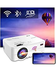 Artlii Enjoy 2 Mini Portable Projector, Bluetooth WiFi 1080P Supported, 300'' Display, Keystone, Zoom, Phone Screen Miracast, Compatible with TV Stick, iOS, Android