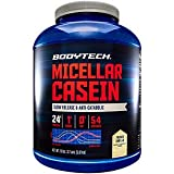 BodyTech Micellar Casein Protein Powder, Slow Release for Overnight Muscle Recovery 24 Grams of Protein per Serving French Vanilla (4 Pound)