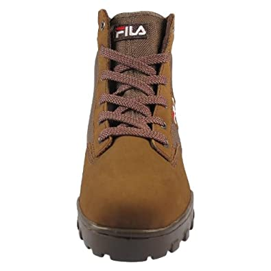 FILA Grunge Mid Mens Boots Leather, brown, Size 47 EU
