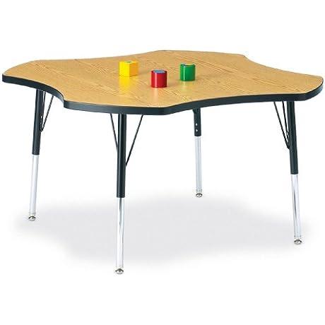 Kydz Activity Table Four Leaf 48 24 31 Ht Blue School Play Furniture