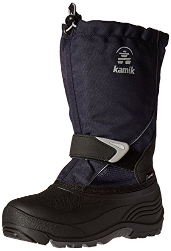 Kamik Boys' Sleet Snow Boot, Navy, 9 Medium US Toddler