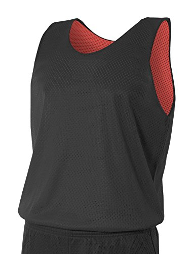 - A4 N2206-BKR Reversible Mesh Tank Top, Large, Black/Red