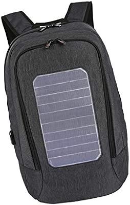 F Fityle Mochila con Panel Solar 5.3V Cargador USB Impermeable para Ordenador Portátil Teléfono Móvil Ropas de Gimnasio