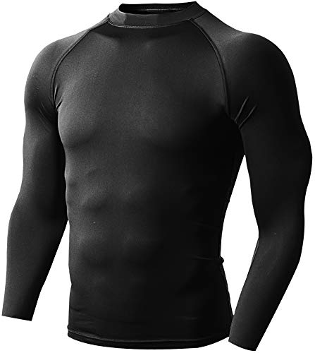 Defender Men's Sports Compression T Shirt Under Gear Jerseys Tights Fits Cold Soccer BB_XS