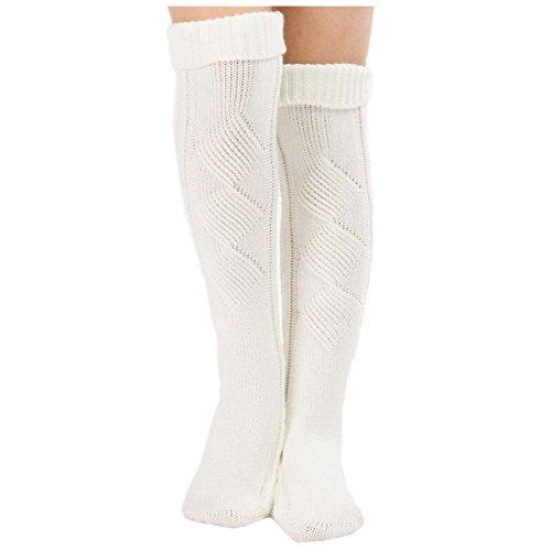 (O-C Plus back with feet to Floor Stocking Warm Knitting Wool Christmas Sock)