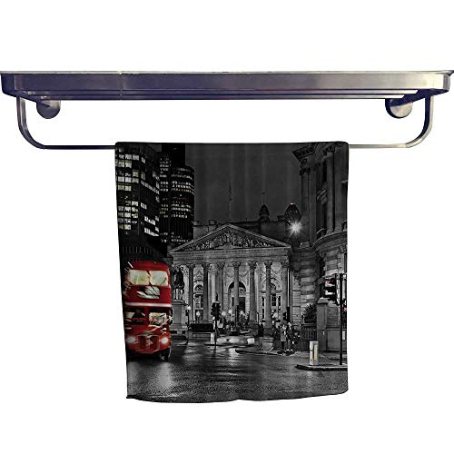 Leigh home Pool Gym Towels, Red Bus St Pauls Cathedral Tower Traffic Sign in England Britain Night ,Good Ideal for The Kid