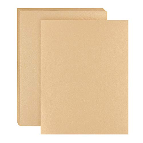 Kraft Paper – 50 Sheets 120 GSM Letter Sized Brown Stationery Paper for Arts, Crafts, and Office ()