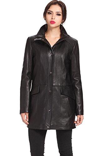 """BGSD Women's """"Rachel"""" New Zealand Lambskin Leather Coat -..."""