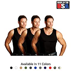 """MADE IN USA. """"Insta Slim"""" Slimming Shirts for Men. Order directly from the manufacturer """"Insta Slim"""" for the ORIGINAL. Beware of FOREIGN COUNTERFEITS!  The original, proven slimming men's compression shirts from Insta Slim. Look up to 5"""" Slim..."""