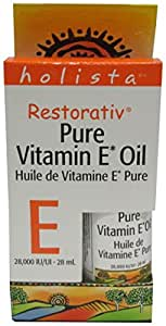 Holista Restorativ Vitamin E Oil, Pure, 28, 000 Iu, .95-Ounce