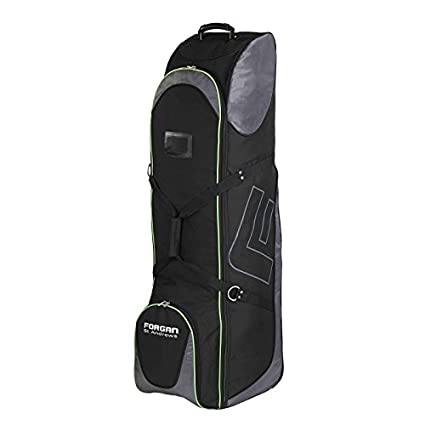 77b34a763a Forgan of St Andrews Deluxe Large Golf Travel Bag Flight Cover with Wheels  Black