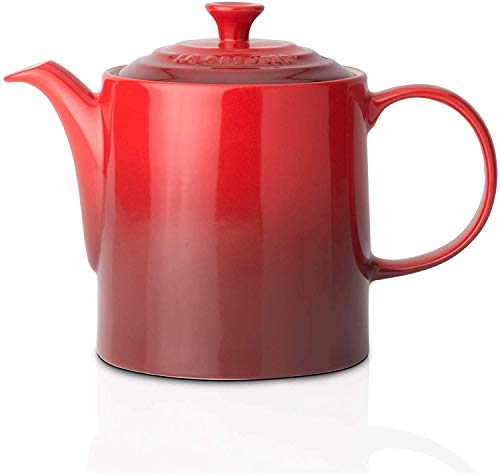 Le Creuset Tetera clasica, Redonda, 1,3 L, Ceramica de gres, Rojo (Cereza)