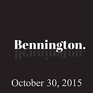 Bennington, Jim Florentine, October 30, 2015 Radio/TV Program
