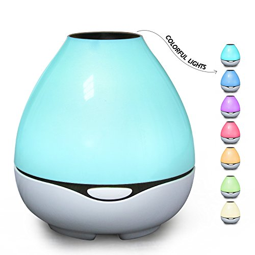 Large Essential Oil Diffuser For Aromatherapy, Aroma Ultrasonic Cool Mist Humidifier-White-Soothing Color Night Light- Extremely Quiet with 300ml -for Home, Large room and Spa by Aromacare (Diffuser With White Noise)