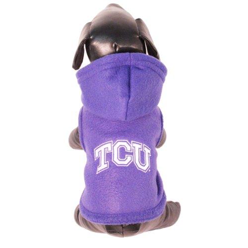 NCAA Texas Christian Horned Frogs Polar Fleece Hooded Dog Jacket, XX-Large Review