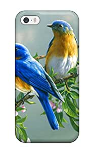 High Quality Shock Absorbing Case For Iphone 5/5s-paintings Flowers Birds Animals