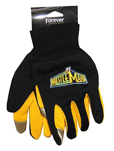 Youth WWE Wrestling Wrestlemania Black & Yellow Texting Gloves
