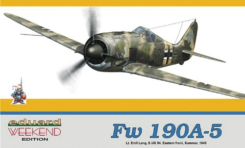 Focke Wulf Fw190A5 5/JG54 Eastern Front Summer 1943 Lt. Emil Lang's Fighter (Weekend Edition Plastic Kit) 1/48 Eduard (Fighter 109 Bf)