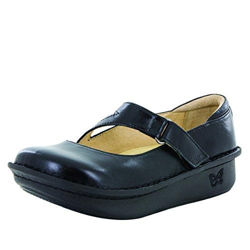 Alegria Women's Dayna Mary Jane Shoe, Jet Luster, 41 M EU by Alegria
