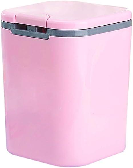 Amazon De Kosmetikeimer Klein Für Badezimmer 3l Tischmülleimer Rosa Mit Deckel Für Schlafzimmer Bio Mülleimer Aus Plastik Für Zuhause Und Küche Mit Müllbeutel Pink