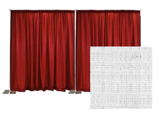 Pipe and Drape Banjo Backdrop Kit 8 ft. x 20 ft. - Snow White by P.D.O.