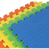 Intra Kids Fitness Flooring Eva Mats, Green/Yellow/Blue/Orange