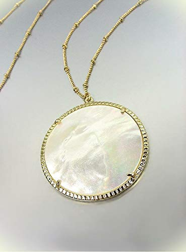 - Gorgeous Urban Artisanal Mother Of Pearl Shell Gold Chain 30
