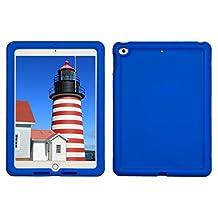 Bobj Rugged Case for iPad 2017 9.7 inch - BobjGear Custom Fit - Patented Venting - Sound Amplification - BobjBounces Kid Friendly (Not for iPad Pro 10.5) (Batfish Blue)