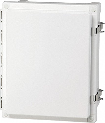 Fibox Enclosures AR24208CHSSL UL Listed Nema 4X Polycarbonate Enclosure with Hinged Opaque Screw Cover and Stainless Steel Lockable Latch, 8'' Height, 20'' Width, 24'' Length