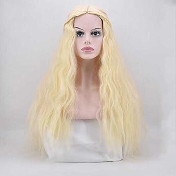 Daenerys Wiged Cosplay Peluca Animación 60 Cm,Maíz Rendimiento Coilsstealth Parte De Moda Realistas Y