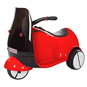 Ride on Toy, 3 Wheel Motorcycle Euro Trike for Kids by Lil' Rider - Battery Powered Ride-on Toy for Boys and Girls, 2-5 Years Old - Red