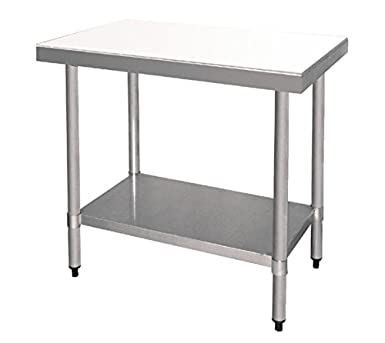 Stainless steel prep table with cutting board
