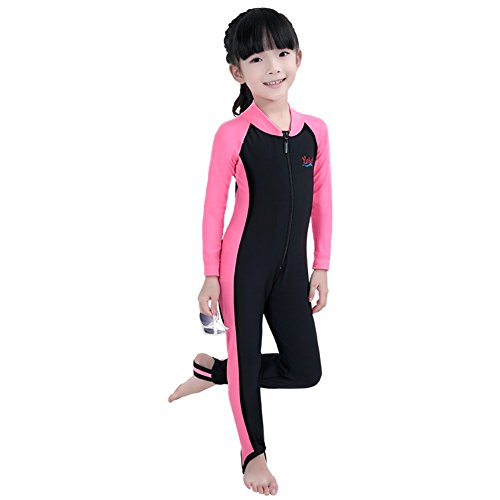 BIKMAN Long Sleeve Sunsuit Girls and Boys Sun Protection One Piece Swimsuit